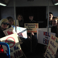 High school riding the bus to the Capitol