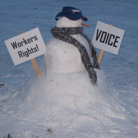 Snowman with Signs